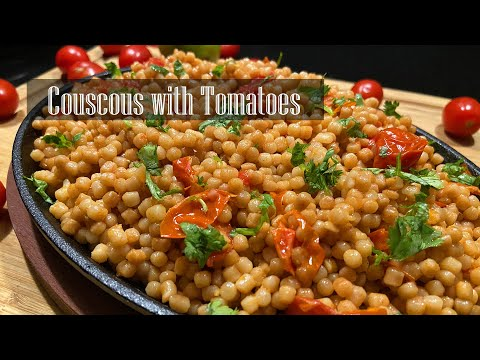 Couscous With Tomatoes || Pearl Couscous With Cherry Tomatoes - RKC