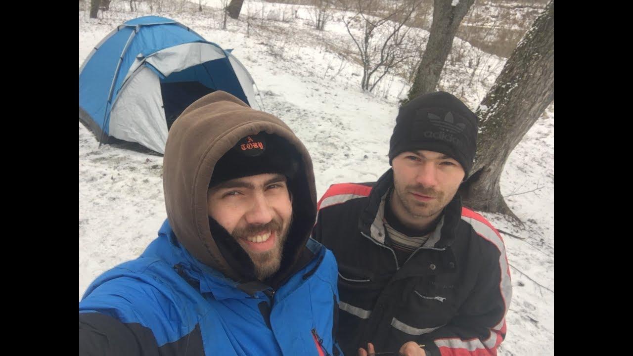 Зимой в палатке     Зимний туризм