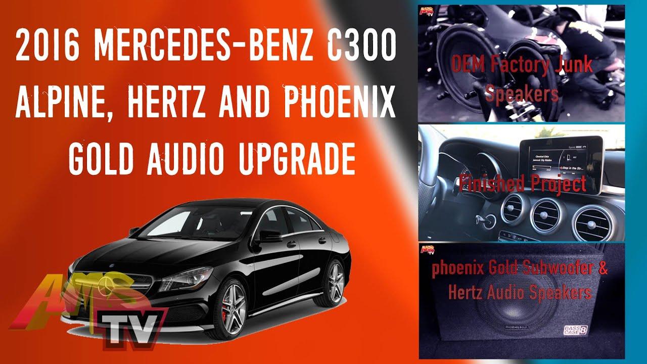 2016 Mercedes-Benz C300 Alpine, Hertz and Phoenix Gold Audio Upgrade:  Project 437