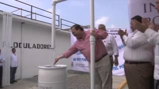 Inaugura el gobernador planta potabilizadora de agua en Coatzintla