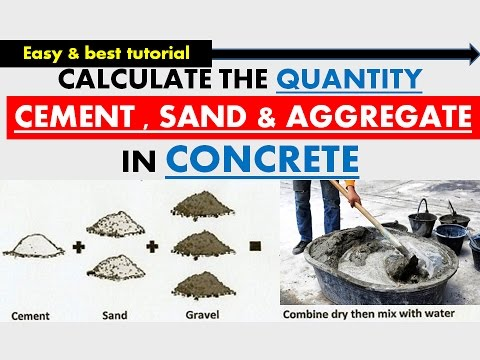 CALCULATION OF QUANTITY OF CEMENT & SAND  & AGGREGATE IN CON