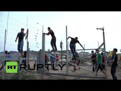 State of Palestine: Clashes erupt as Palestinian protesters break through Israeli border fence