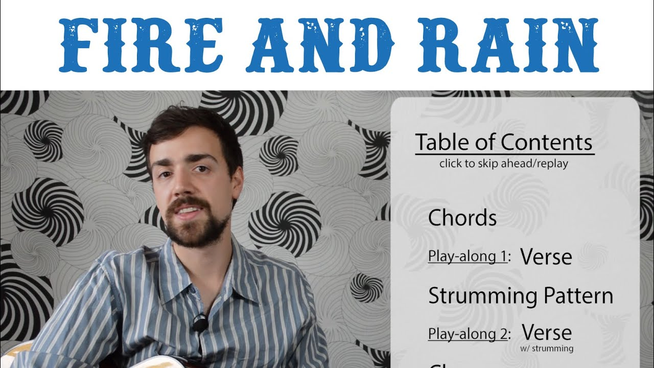 How to play fire and rain by james taylor simplified easy how to play fire and rain by james taylor simplified easy version chords and strumming hexwebz Image collections