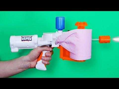 CRASH TEST : pistolet à papier toilette