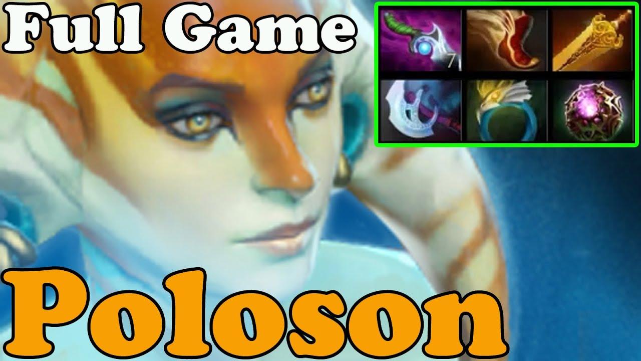 Dota 2 Poloson Plays Naga Siren Full Game Pub Match Gameplay
