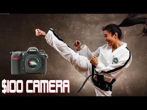 $100 Budget Camera Challenge - LIVE Action Photoshoot