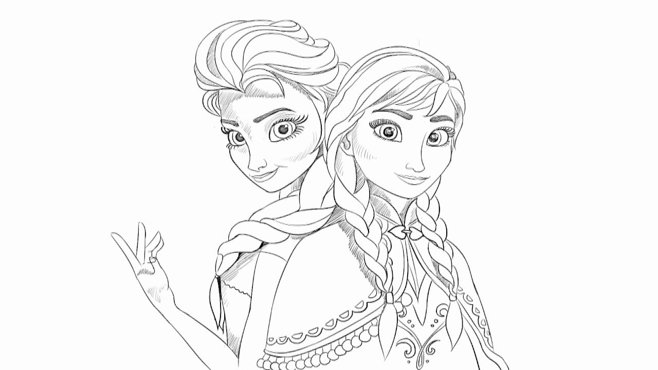 how to draw anna and elsa from frozen youtube