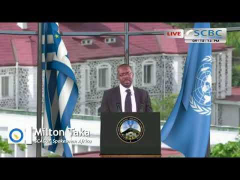 Mr. Milton Taka SCACUF spokesperson for Africa  22/08/2017Edition
