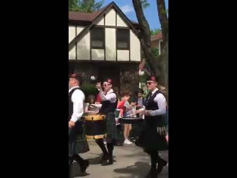 Itasca Memorial Day Parade 2017 - Tunes of Glory Pipes and Drums (Version 2)