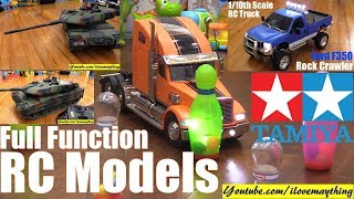 Remote Control Models! TAMIYA RC Models. RC Tank and RC Trucks! Full Function RC Models