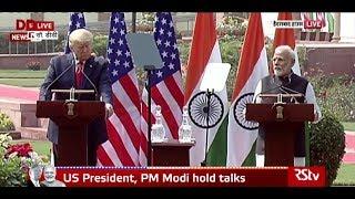Joint press statement by PM Modi & US President Donald Trump in New Delhi | February 25, 2020