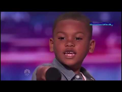 Little Boy Sings TayK 47- The Race On AGT