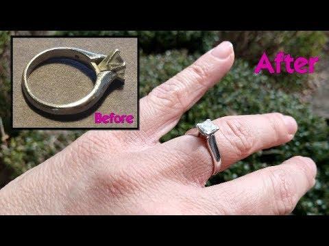 Shine and Polish a Platinum Diamond Ring with a Dremel Rotary Tool