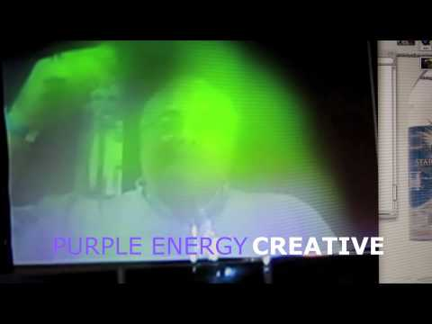 aura changes as they drink gold water.. green means energy of intellect and purple is of creativity