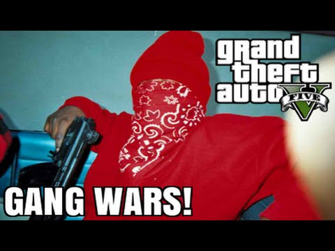 GTA 5 Mods - GANG WARS MOD! (GTA 5 PC Mods Gameplay)