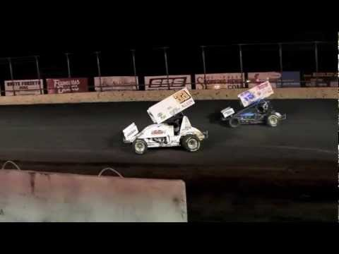 Danny Lasoski 360 spin at the All Star show at Huset's Speedway 7-29-12