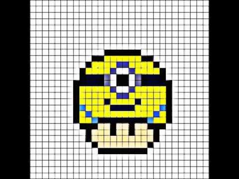 Pixel Art Mushroom Mignon Youtube