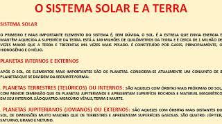 AULA DE ASTRONOMIA - 1ª SÉRIE - PROF. ELDER