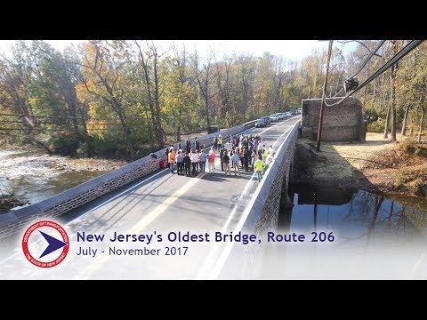 NJ Route 206 Bridge Construction Time-Lapse