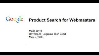 Product Search for Webmasters