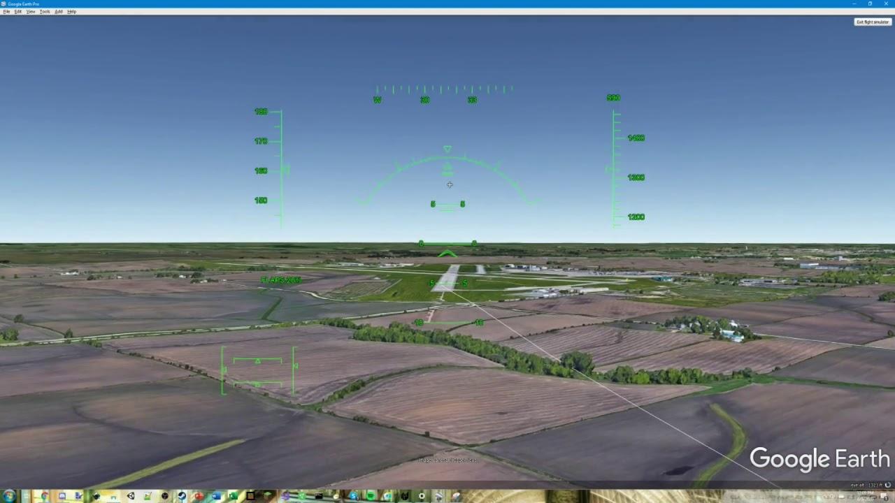 Iowa City Mun Airport - Cedar Rapids Mun Airport   Google Earth Flight Simulator