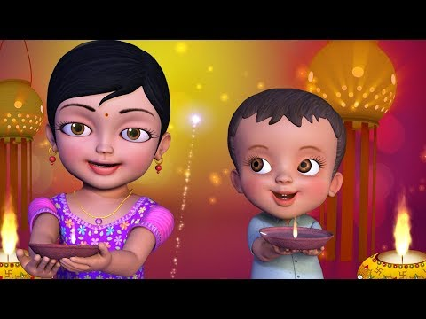 சந்தோஷம் பொங்கிடும் தீபாவளி | Tamil Rhymes for Children | Infobells