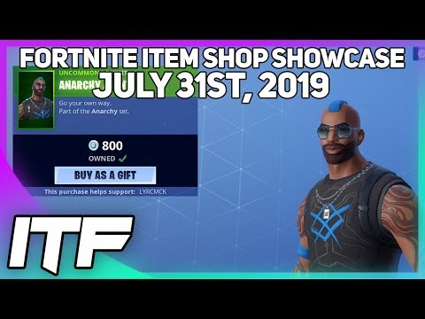 Fortnite Item Shop *NEW* ANARCHY AGENT SET! [July 31st, 2019] (Fortnite Battle Royale)