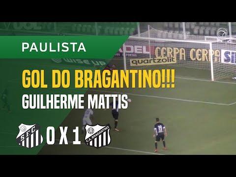 GOL (GUILHERME MATTIS) - SANTOS X BRAGANTINO - 22/01 - PAULISTA 2018