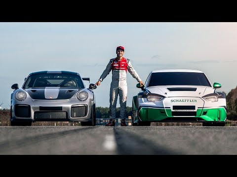 1200PS S4eP vs. Porsche GT2 RS   Drag Race!   Daniel Abt