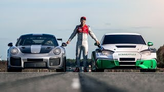 1200PS S4eP vs. Porsche GT2 RS | Drag Race! | Daniel Abt