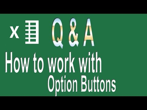 How to work with Option buttons | Excel VBA Questions # 1