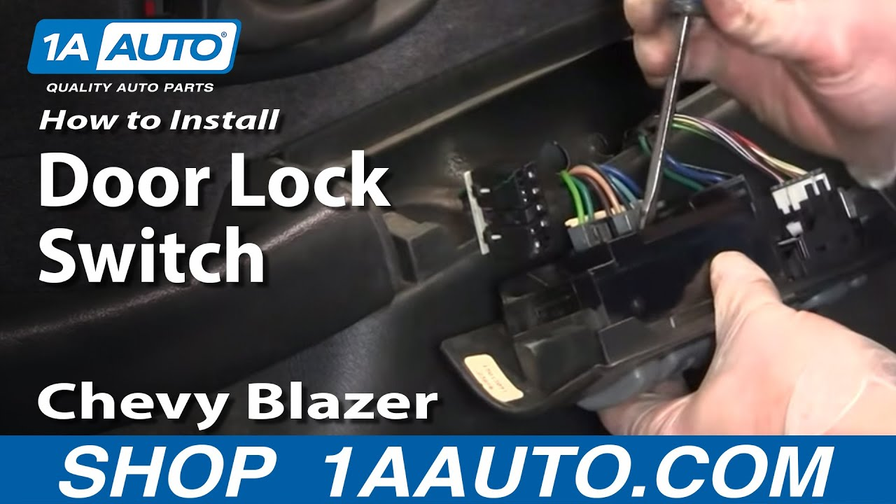hight resolution of how to replace power window door lock switch 95 05 chevy blazer s10