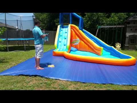 Banzai Water Slide Unboxing, Setup, and Drying Review