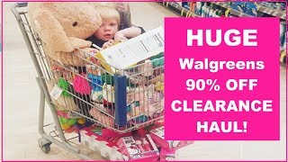 Huge Walgreen 90% Off Clearance Haul !
