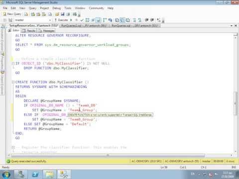 Resource Governor in SQL Server 2008