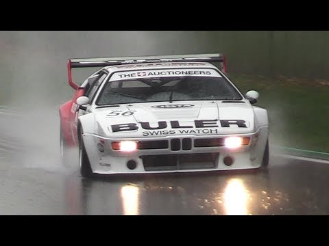 Historic Cars racing on Wet at Imola Classic – Group C Prototypes, F2, GT & Touring cars!