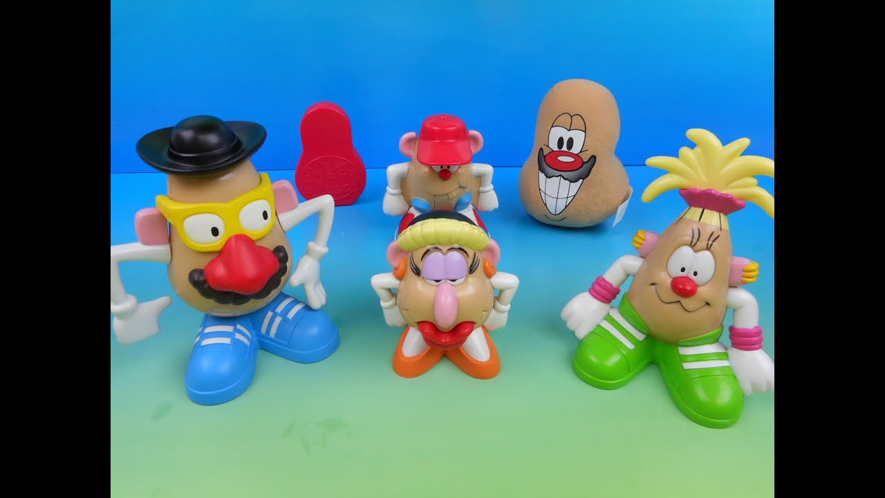 2002 MR. POTATO HEAD SET OF 6 JACK IN THE BOX KIDS MEAL TOYS VIDEO ...
