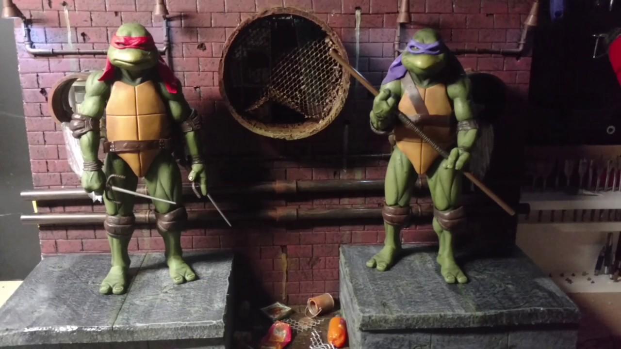 Neca 1 4 Ninja Turtles Diorama Raphael Amp Donatello Tmnt