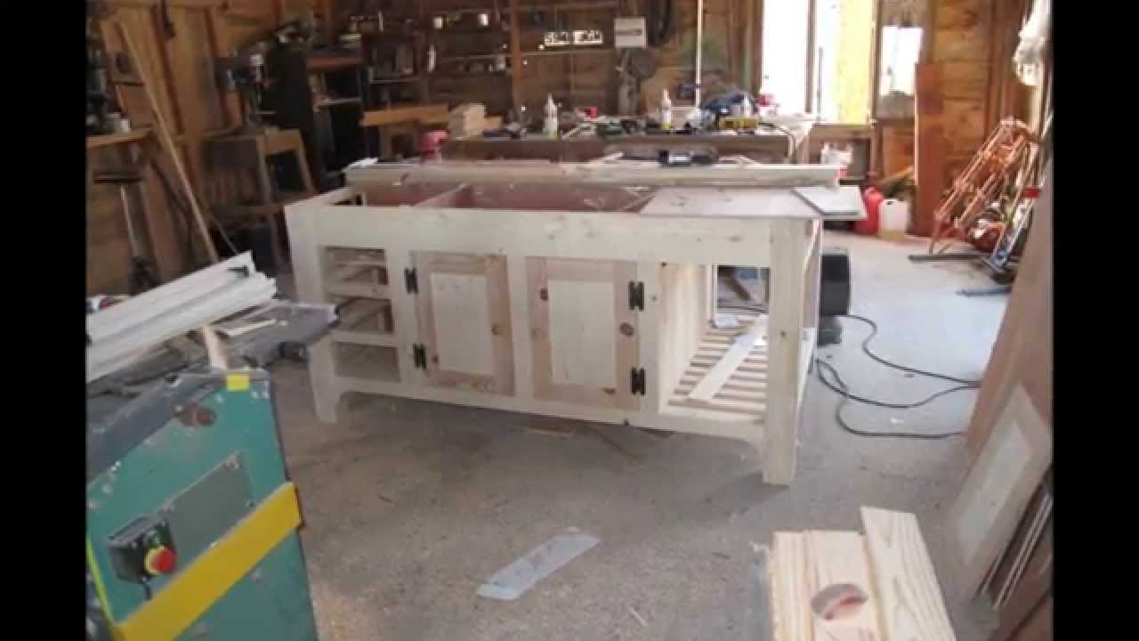 How to make a kitchen island unit youtube for Making a kitchen island from cabinets