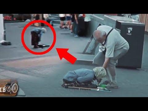 Разоблачение инвалидов-попрошаек: видеокамера