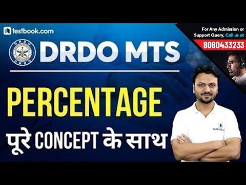Percentage Problems, Tricks & Shortcuts for DRDO MTS 2020 | Basic Math Class by Vineet Sir