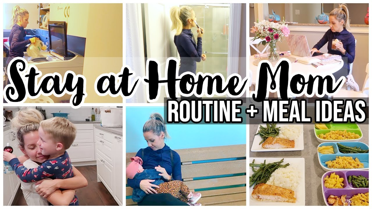 Stay At Home Mom Routine Meal Ideas Sahm Mom Of 3 Toddler Baby Schedule
