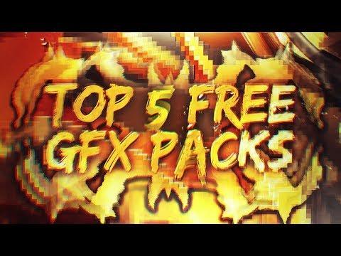TOP 5 FREE GFX PACKS 2018 (CC-CS6) - YouTube