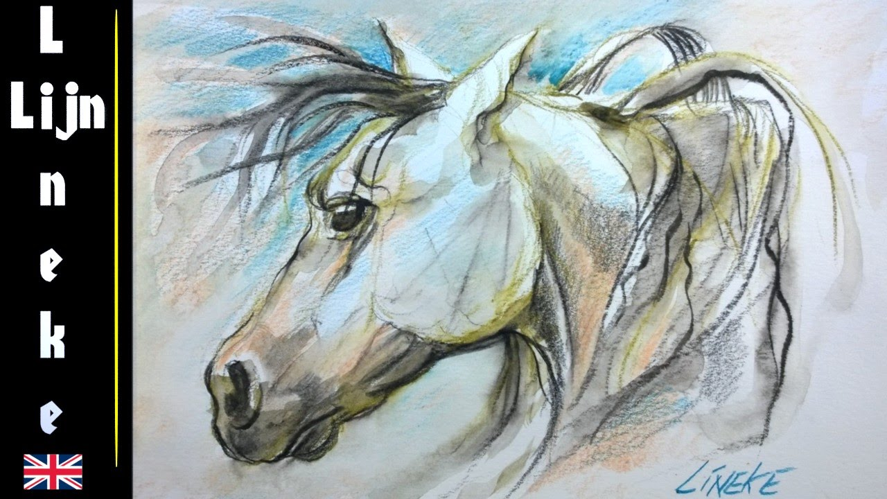 143764fa6 Drawing a HORSE HEAD with watercolor pencils- easy tutorial – Hildur ...