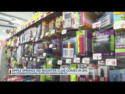 Apple Springs booster club buys school supplies for every student