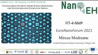 1-5 Success story: NANOEH H2020 project, Dr. MirceaMODREANU, Tyndall National Institute