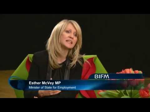 Interview with ThinkFM keynote speaker Esther McVey, Minister for State