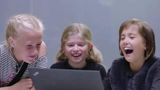 Børn tester virkeligt langsomt internet