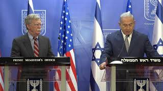 Netanyahu and Bolton give statements ahead of meeting in Jerusalem