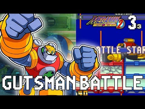 GUTSMAN BATTLE | Mega Man Battle Network 2 Let's Play Part 3
